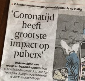 'Coronatijd heeft de grootste impact op pubers'